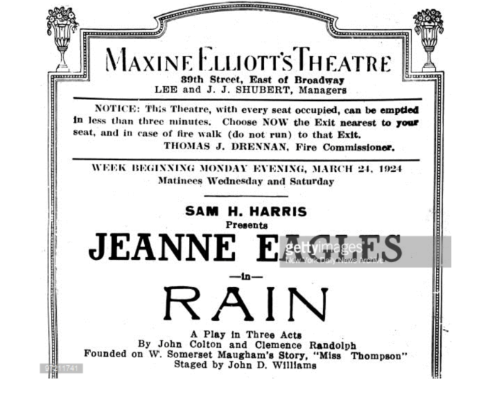 1924 Eagels in Rain