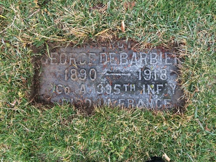 George DeBarbiery — Ossining World War Icasualty