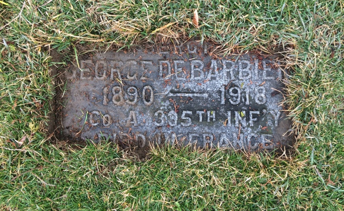 George DeBarbiery — Ossining World War I casualty