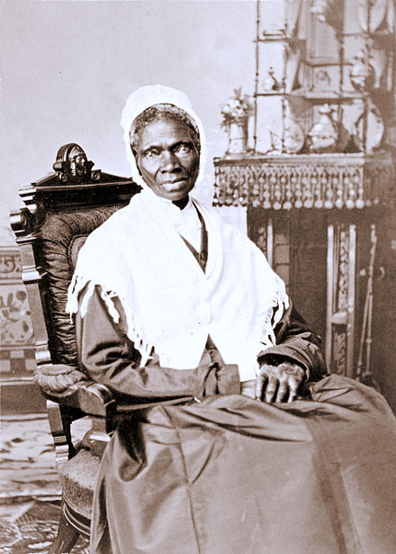SOJOURNER TRUTH An albumen silver print from c. 1870 by Randall Studios