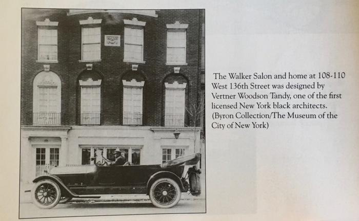 MADAM CJ WALKER 108-110 West 136th Street